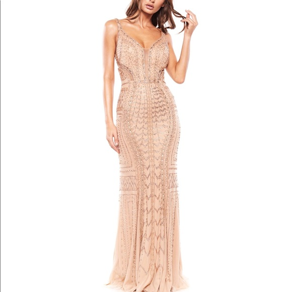 bacdb506dee alamour the label Dresses   Skirts - Alamour the label shimmering beaded  crystal gown 0
